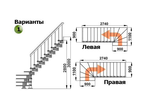 Лестница К-008м