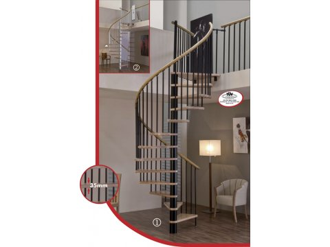 лестница Spiral decor d140 (black)