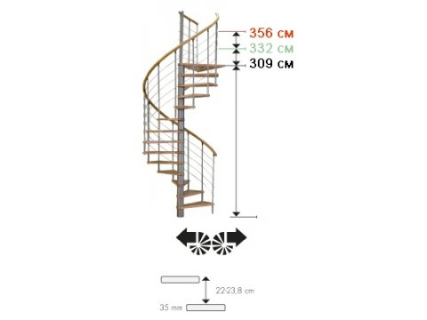 Лестница Venezia Eiche d140