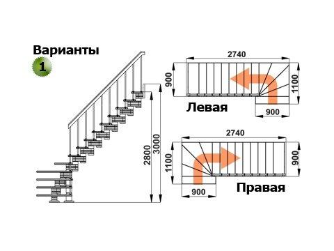 Лестница К-008м (бук)