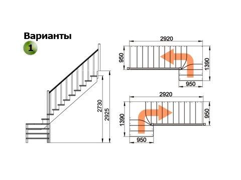 Лестница К-031м (бук)