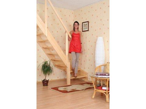 Деревянная экономичная лестница «Мельника MZ»