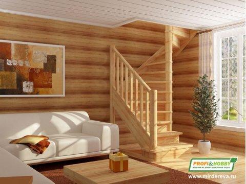Деревянная лестница ЛС-05м