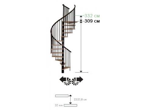 лестница Spiral decor d140 (black)