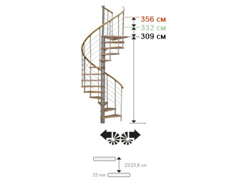 Лестница Venezia Buche d120