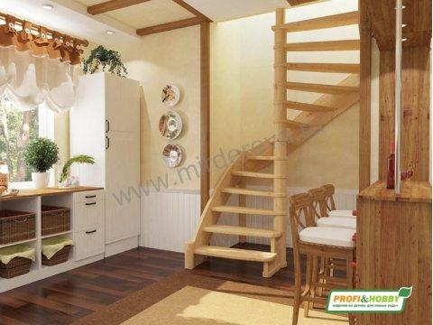 Лестница ЛС-01м (дуб и сосна)
