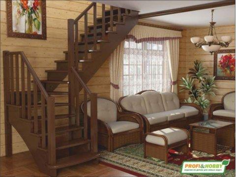 Лестница К-021м (бук)
