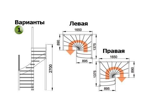Лестница ЛС-04м (бук)