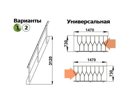 Лестница К-007м/28 (дуб)