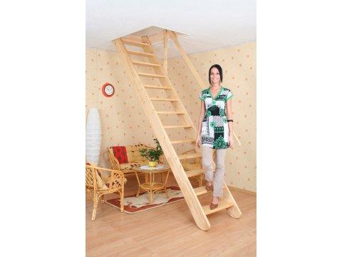 Деревянная экономичная лестница «Мельника MP»
