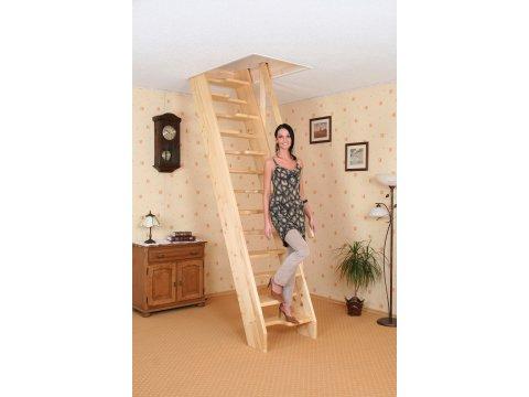 Деревянная экономичная лестница «Мельника KA»
